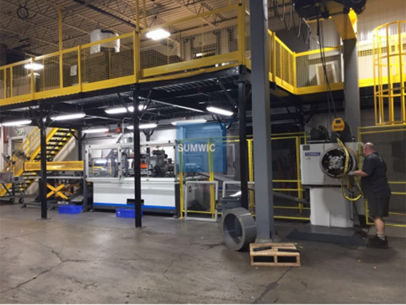 Installing Step Lap Core Cutting Line in Tempel Company in Oct. 2017.
