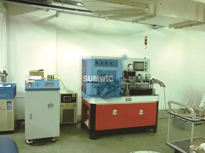 Singapore's customer bought toroidal core making machine with red color
