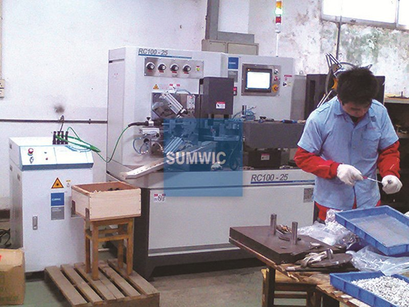 Customized RC100-25 automatic core winder for sheet width 25mm in Changan city